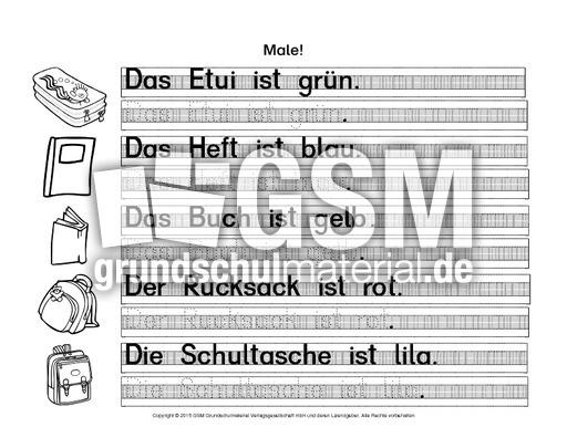 AB-DaZ-Farben-In-der-Schule 4 - AB-Farben - DaZ-Farbwörter - Deutsch ...