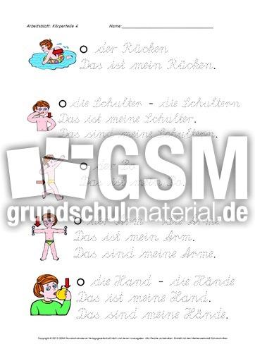 arbeitsblatt vorschule 187 k246rperteile 252bungen deutsch photo