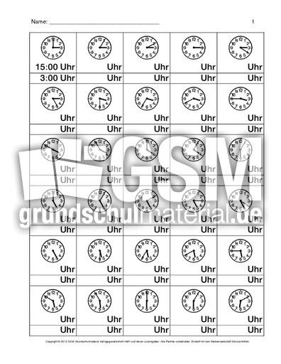 Arbeitsblatt Uhrzeiten Englisch : Daz uhr arbeitsblatt uhrzeiten nach themen