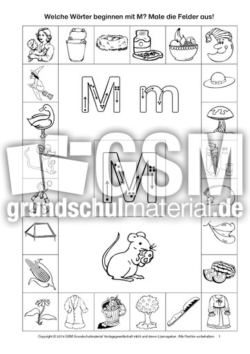 Lernheft in der Grundschule - ABC Anlaute und Buchstaben - Anlaute ...