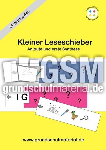kleiner leseschieber anlautbilder zuordnen anlaute deutsch klasse 1. Black Bedroom Furniture Sets. Home Design Ideas