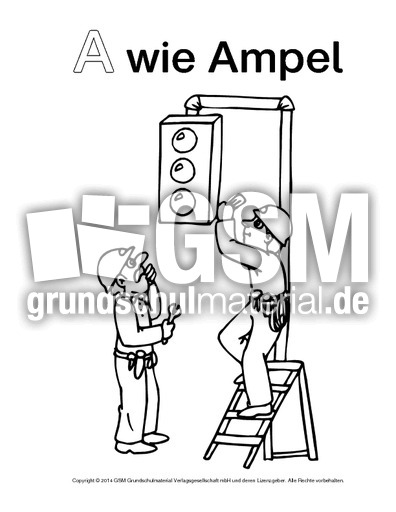 a wie ampel1  ausmalbilder zum abc  anlaute  deutsch