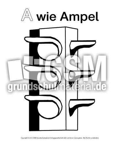 a wie ampel2  ausmalbilder zum abc  anlaute  deutsch