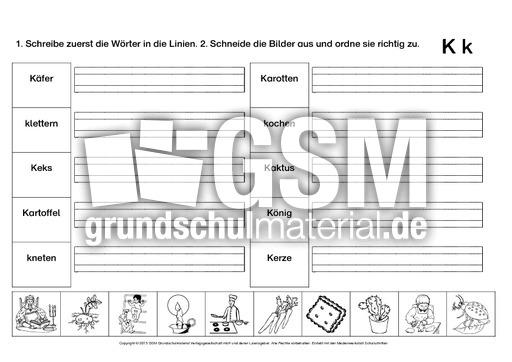 Erfreut Buchstaben K Arbeitsblatt Bilder - Mathe Arbeitsblatt ...