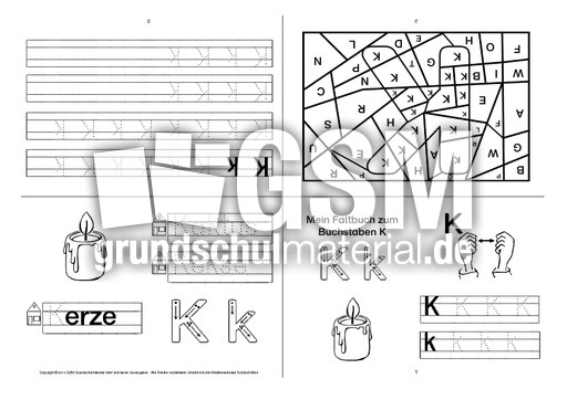 faltbuch zum buchstaben k buchstaben faltb cher buchstaben deutsch klasse 1. Black Bedroom Furniture Sets. Home Design Ideas
