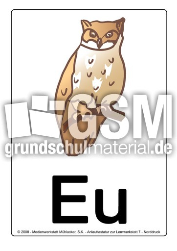 eu-eule - Buchstabenbilder - Lernwerkstatt 7 - Buchstabenbilder ...