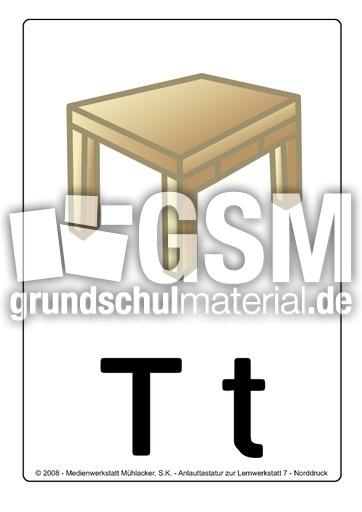 T Tisch Buchstabenbilder Lernwerkstatt 7 Buchstabenbilder