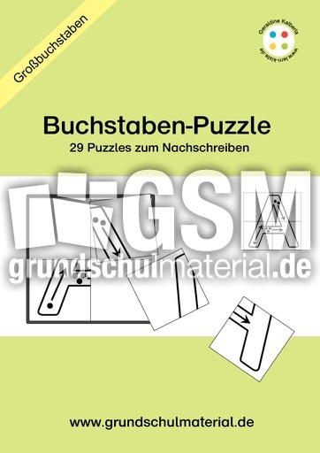 buchstabenpuzzle vier teile grosse buchstaben zum nachschreiben buchstabenpuzzle 1. Black Bedroom Furniture Sets. Home Design Ideas