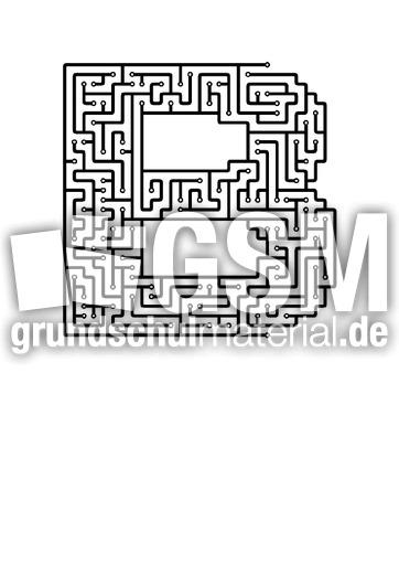 b - Labyrinth als Buchstabe - Buchstaben - Deutsch Klasse 1 ...