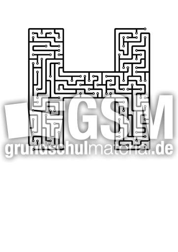 h - Labyrinth als Buchstabe - Buchstaben - Deutsch Klasse 1 ...