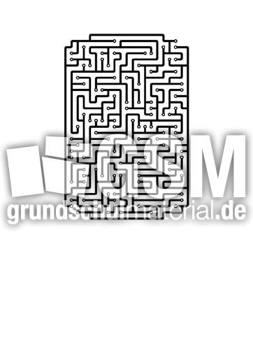 i - Labyrinth als Buchstabe - Buchstaben - Deutsch Klasse 1 ...