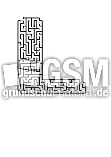 l - Labyrinth als Buchstabe - Buchstaben - Deutsch Klasse 1 ...