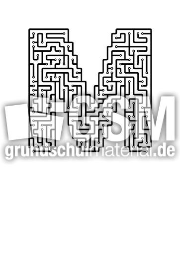 m - Labyrinth als Buchstabe - Buchstaben - Deutsch Klasse 1 ...