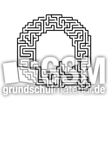 q - Labyrinth als Buchstabe - Buchstaben - Deutsch Klasse 1 ...