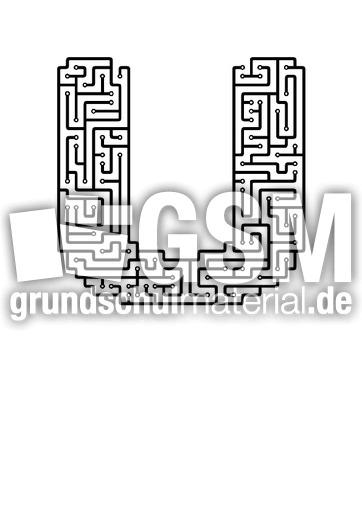 u - Labyrinth als Buchstabe - Buchstaben - Deutsch Klasse 1 ...