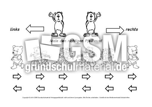 ab b ren rechts links 1 8 allerlei zum schulanfang grundschulmaterial fibel deutsch klasse. Black Bedroom Furniture Sets. Home Design Ideas