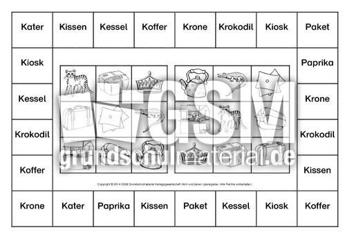 Bingo-erste-Wörter-Norddruck-B-1-10 - Bingo-Erste-Wörter ...