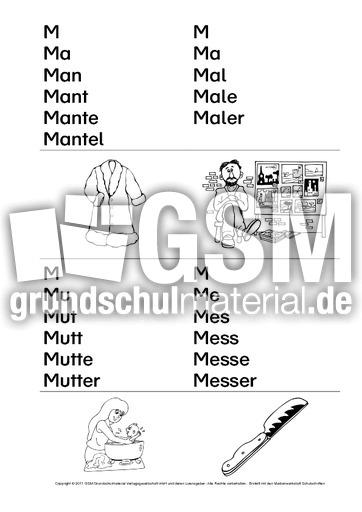 Erste-Wörter-Treppenwörter-SD-1-39 - Erste Wörter - Arbeitsblätter ...