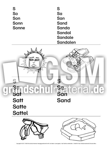 Luxury Lese Mehrsilbige Worte Arbeitsblatt Gift - Kindergarten ...