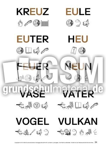 Fördermaterial-Lesen-Anlautbilder-1-30 - Lesen mit Großbuchstaben ...