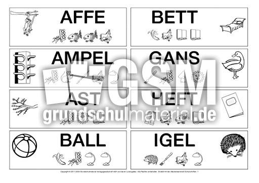 Fördermaterial-lautgetreue-Woerter-1-25 - Lesen mit Großbuchstaben ...