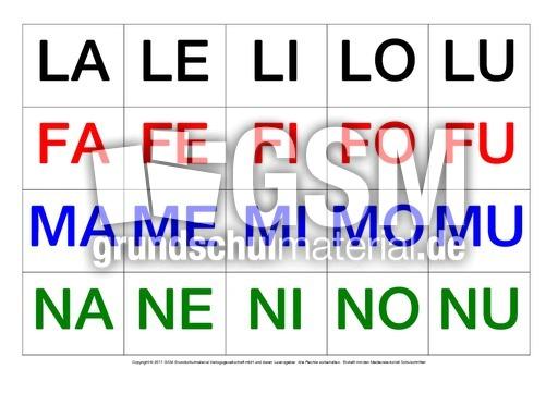 Silbenkärtchen-Grossbuchstaben - erste Wörter in Silben ...