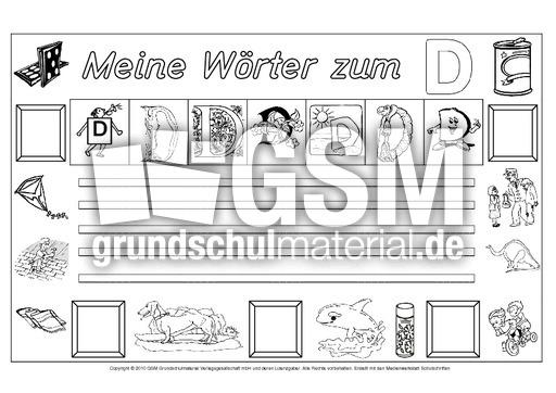 Wu00f6rter-zum-D - Freies-Schreiben - Grundschulmaterial-Fibel ...