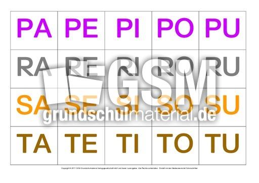 Silbenku00e4rtchen-Grossbuchstaben - erste Wu00f6rter in Silben ...