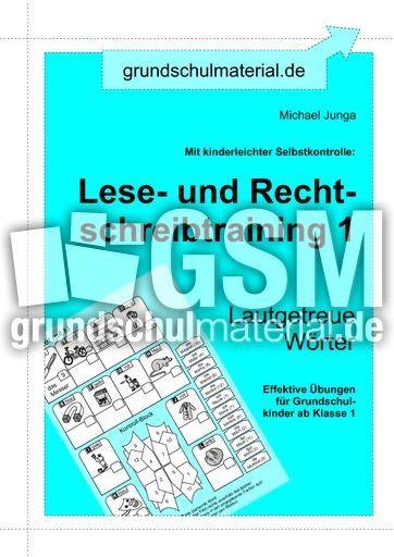 0 einf hrung lrs lautgetreue w rter lrs heft 1 lrs training mit selbstkontrolle deutsch. Black Bedroom Furniture Sets. Home Design Ideas