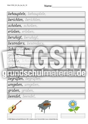 4 L Grau Buchstabe Be 12 S Vierer Lineatur Mit Grauraster