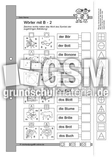 b w rter ganz einfache lese bungen bungen mit w rtern lesen deutsch klasse 1. Black Bedroom Furniture Sets. Home Design Ideas