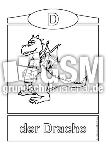 W rter mit d bild wort poster lesen deutsch klasse 1 for Deckel englisch