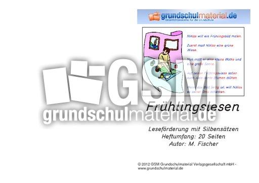 Fru00fchlingsleseheft - Lernhefte - Lesen - Lesen - Deutsch ...