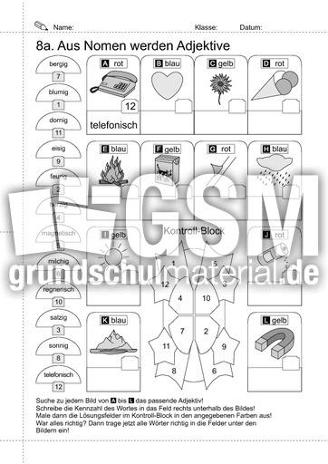 10-LRS-Nomen zu Adjektiven - Arbeitsblätter-LRS-2 - Rechtschreiben ...