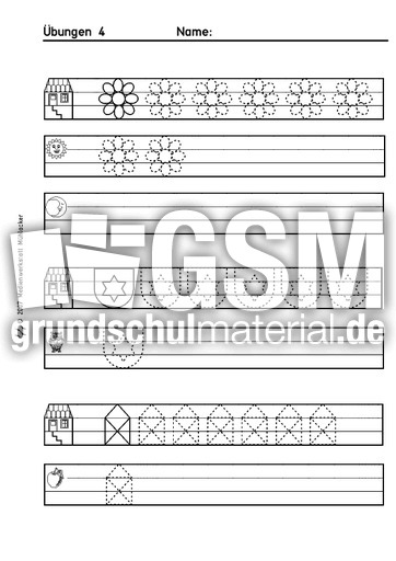 uebungen 4 schwung bungen schreiben lernen schreiben deutsch klasse 1. Black Bedroom Furniture Sets. Home Design Ideas