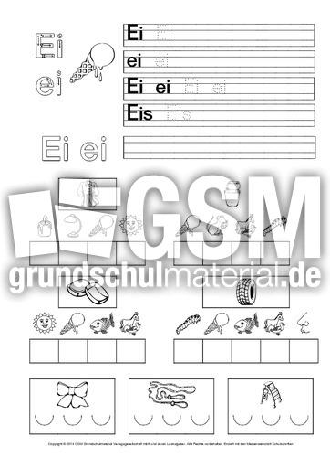 bungsblatt zum ei buchstaben bungen schreiblehrg nge deutsch klasse 1. Black Bedroom Furniture Sets. Home Design Ideas