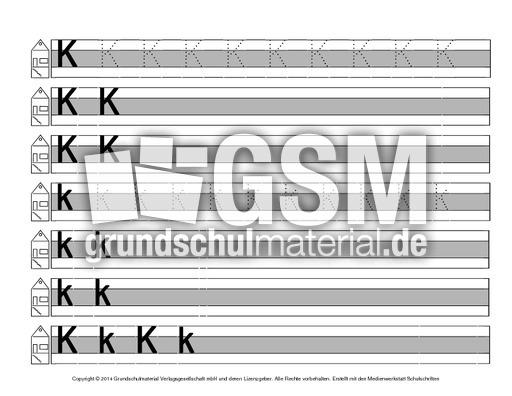 Buchstabe-K - Druckschrift-Mittellinie-grau - Schreiblehrgänge ...