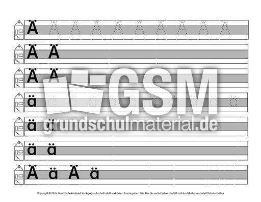 buchstabe druckschrift mittellinie grau schreiblehrg nge deutsch klasse 1. Black Bedroom Furniture Sets. Home Design Ideas