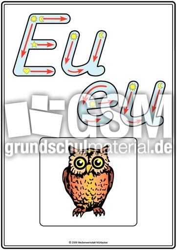 Grundschrift-Druck Eu - Buchstabenhaus Druckschrift - Grundschrift - Basisschrift ...