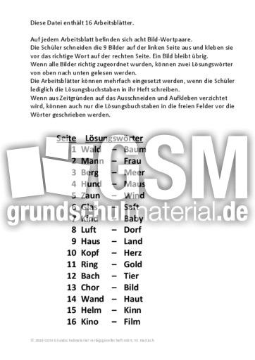 Bild-Wortzuordnung_01i - Wörter mit 3 und 4 Buchstaben - Bild ...