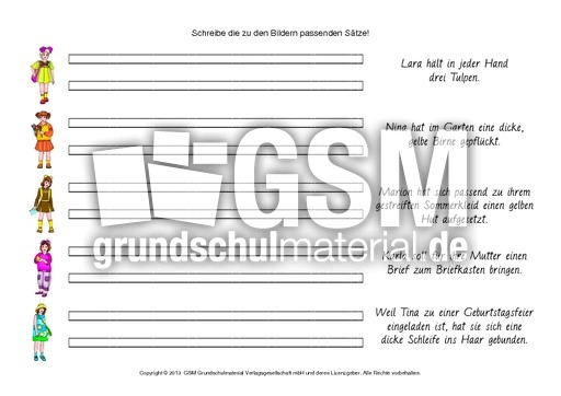 AB-Bild-Satz-Zuordnung-Grundschrift-1-24 - AB Bildern-Sätze-zuordnen ...