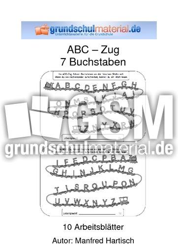 Abc Zug Arbeitsblatt : Abc zug buchstaben