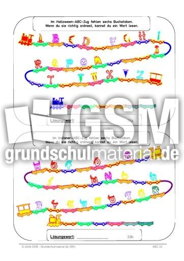 ABC - Zug 6 Buchstaben_color - ABC-Zug 6 Buchstaben color - ABC - Zug - ABC - u00dcbungen - Deutsch ...