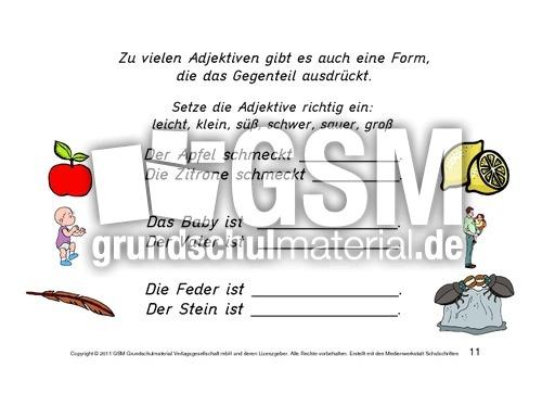 Kartei-Erste-u00dcbungen-zu-Adjektiven - Erste u00dcbungen ...