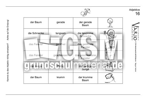 Adjektive16 - VARIOkarten-Adjektive - Adjektive - Deutsch ...