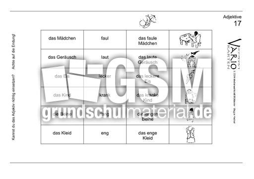 Arbeitsblatt Adjektive Klasse 6 : Arbeitsblatt vorschule nomen verben adjektive übungen