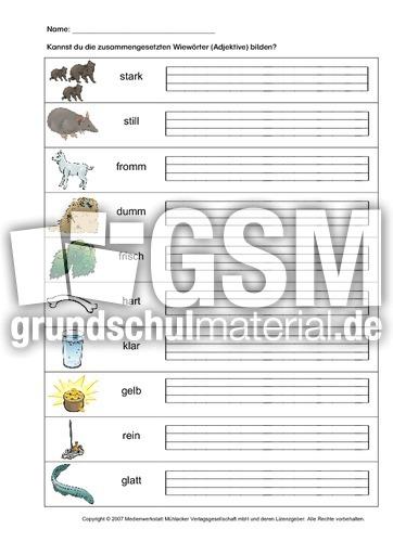 arbeitsblatt vorschule 187 verben adjektive nomen 252bungen 4