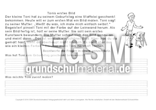 fragen zum text beantworten 4 arbeitsbl tter lesetraining lesen deutsch klasse 2. Black Bedroom Furniture Sets. Home Design Ideas