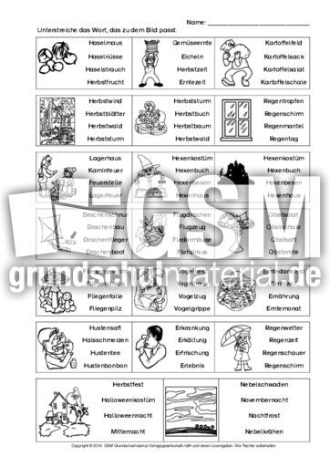 Herbstwörter-Wortverständnis-Training-B-2 - Arbeitsblätter ...