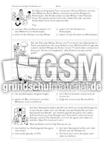 Textverständnis-Training-B-1 - Arbeitsblätter-Lesetraining - Lesen ...